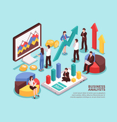 Business analyst concept vector