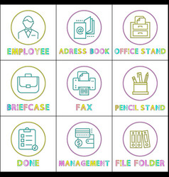 business mobile app icons linear templates set vector image