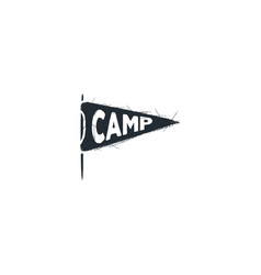 Camp pennant ison silhouette design vintage hand vector