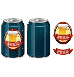 Cans of beer and logo design vector image