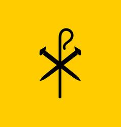Christian symbols crucifix nails vector