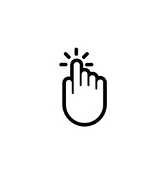 Click finger hand press push pointer icon vector