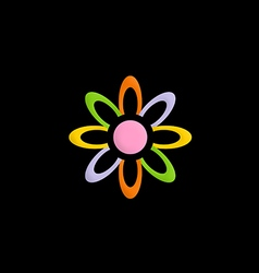 colorful flower decorative logo vector image vector image