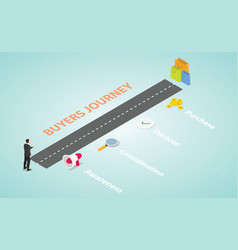 Customer or buyer journey decision with various vector