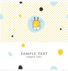 cute card vector image vector image