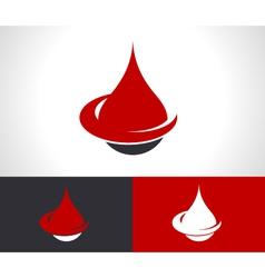 Donate Blood Drop Logo Icon vector