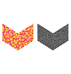 Dot direction down mosaic icons vector