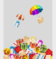 dropping present vector image