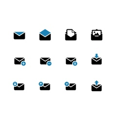 Email duotone icons on white background vector image