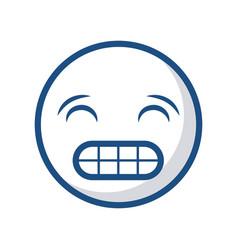 Emoticon face icon vector