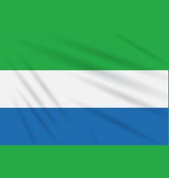 flag sierra leone swaying in wind realistic vector image