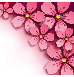 Floral background sakura flower vector