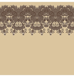 floral background with lace for design vector image