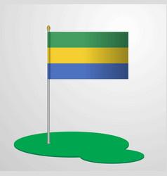 gabon flag pole vector image