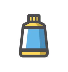 Glue blue tube icon cartoon vector