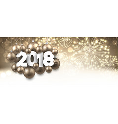golden 2018 new year banner vector image