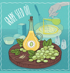 grape seed oil used for cooking vector image