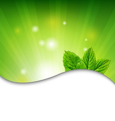 Green Wall With Green Leaves vector image