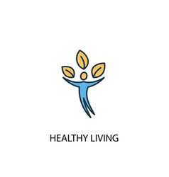 healthy living concept 2 colored line icon simple vector image