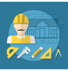 house building concept vector image