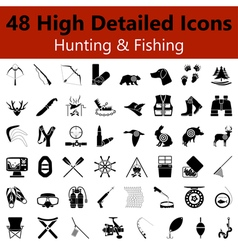 Hunting and Fishing Smooth Icons vector