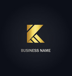 K initial business logo vector