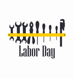 labour day engineer labour tools vector image