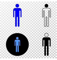 man eps icon with contour version vector image