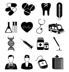 Medical healthcare icons set vector
