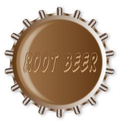 Metal root beer bottle cap vector