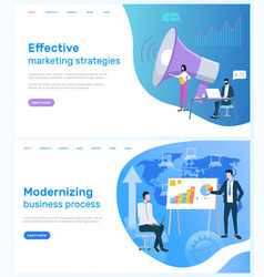 Modernizing business and marketing strategies vector