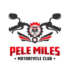 Motorcycle club community logo design vector