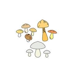 Mushrooms-380x400 vector image vector image