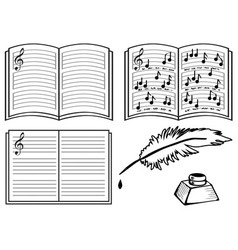 music books vector image