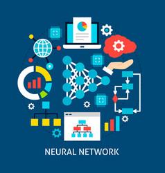 Neural network flat concept vector