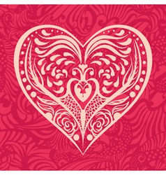 pattern with heart vector image