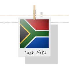 Photo of south africa flag vector