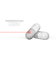 pills abstract 3d closeup two vector image