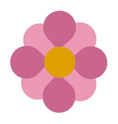 Pink flower nature garden botanic decoration vector