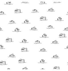 Piranha seamless pattern Many bloodthirsty marine vector image