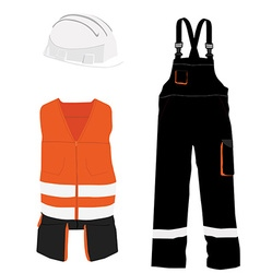 Protective workwear set vector image
