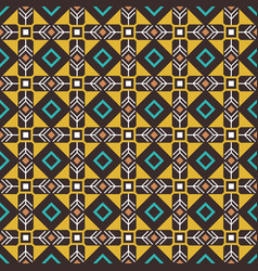 Pseudo african craft ethnic pattern vector