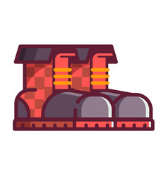 red boots icons vector image