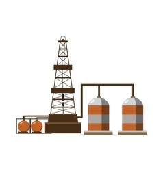 Refinery icon cartoon style vector