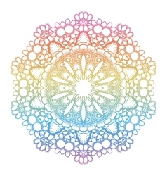 Round rainbow mandala background vector