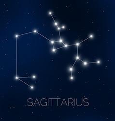 Sagittarius constellation vector image