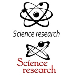 Science research emblems vector image