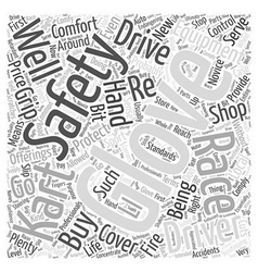 Scrutinizing Kart Racing Gloves Word Cloud Concept vector