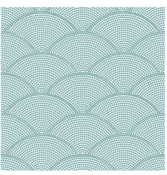 seamless ocean wave dot pattern vector image