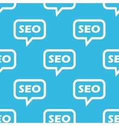 SEO message pattern vector image